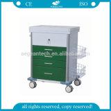 AG-GS008 la meilleure fonction de matériel de chariot à secours médical de la vente solides solubles