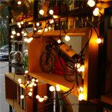 Zeichenkette-Licht-Niederspannung der Qualitäts-Festival-warmes weißes Kugel-LED für Dekoration