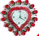 Часы стены метода красного утюга формы сердца нанесённые