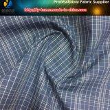 Tessuto tinto spazzolato del filato di poliestere, tessuto molle dell'assegno del pelo per l'indumento