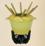 Euopean populäres Roheisencookware-Fondue-Set