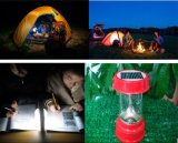 Lâmpada de lanterna de acampamento recarregável solar solar portátil ao ar livre