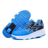 Les chaussures noires de rouleau de mode faites dans le prix usine de Jinjiang, folâtrent les chaussures occasionnelles pour l'homme et la femme