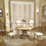 Tableau dinant de marbre rond antique de 10 Seater Chippendale