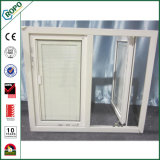 Doppia oscillazione lustrata Windows, stoffa per tendine cieca Windows dell'isolamento acustico di UPVC del PVC