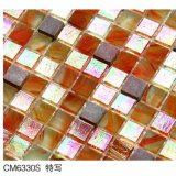 Piedra natural ambarina del color rojo del mosaico