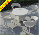 Mobilia esterna del patio della disposizione dei posti a sedere esterna del rattan