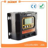 Suoer 12V 24V 20A MPPT 태양 비용을 부과 관제사 (SON-MPPT-20A)