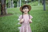100% قطب أطفال مظهر [فلوور جرل] ثوب لأنّ فصل صيف