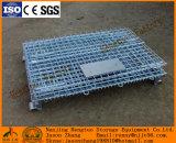 Falten und stapelbarer Stahlmaschendraht-Vorratsbehälter mit Fußrollen