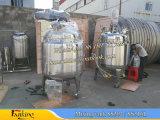 Réacteur de réservoir de réservoir de réaction 2000L 2000L avec agitateur de turbine