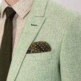 Chaqueta verde clara de la manera de calidad superior para los hombres