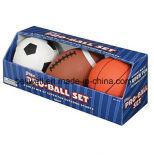 Juego de bola de juguete deportivo para niños (fútbol, fútbol y baloncesto)