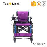 의학 건강 다기능 분리가능한 바퀴 접히는 힘 전기 휠체어
