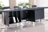Neuer moderner Konferenz-Schreibtisch mit Belüftung-Leder (E2)