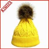 冬POM POMの暖かいケーブルの帽子