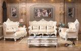 Sofá de couro Royal Style 1 + 2 + 3, Europa Sofá clássico novo (169)