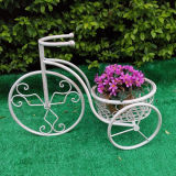 Soporte blanco del plantador de la bicicleta de Antuqie con 2 crisoles