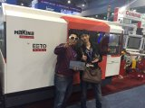 máquina del laser del CNC de 1000W Raycus con el vector doble (EETO-FLX3015)