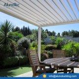 안뜰 집을%s 백색 색깔 모터 통제 알루미늄 지붕 시스템
