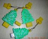 1GB, 2GB, 4GB, привод вспышки USB формы рождественской елки PVC 16GB (ET002)