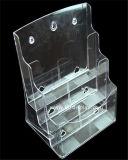 Duidelijke Plastic A4 3 Fabrikant btr-H6303-2 van de Houder van de Brochure van Banden