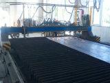 Parte lisa do trabalho do metal que corta a máquina de corte, controle do CNC