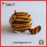 귀여운 삐걱거리는 견면 벨벳 호랑이 애완 동물 장난감 개 장난감
