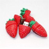 로고를 위한 Ctue 만화 딸기 USB 섬광 드라이브