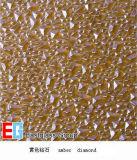 패턴 또는 롤러 또는 구르는 또는 건축하거나 호박색 다이아몬드 유리