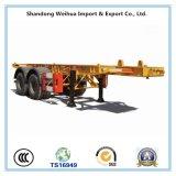 De Semi Aanhangwagen van de vrachtwagen van de Aanhangwagen van de Container van het Skelet van 2 Assen 20FT van Vervaardiging