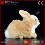 Brinquedo realístico macio do coelho do luxuoso do animal enchido do coelho de ASTM para miúdos