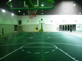Nicht Kleber-Basketballplatz, 100% reiner Polypropylen-Sport-Gerichts-Bodenbelag (Basketball-Goldsilber-Bronze)