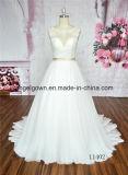 Vestido de casamento Ivory do vestido de esfera do baile de finalistas