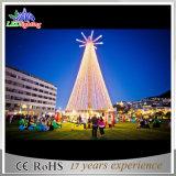 De geanimeerde Nieuwe Decoratieve LEIDENE van het Landschap Warme Witte Kerstboom van de Toren
