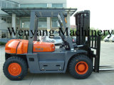 Diesel5000kg gabelstapler mit doppelten vorderen Gummireifen
