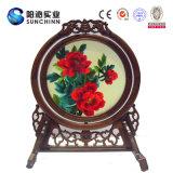 Main chinoise fait Table Soie Décoration d'écran