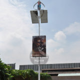 Outdoor Solar Powered Street Pole Advertising Light Box