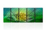 Arte domestica della parete del metallo della decorazione con il fiore di colore giallo di effetto 3D (CHB6014076)
