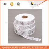 길쌈된 스티커 피복 주의깊은 세척 레이블을 인쇄하는 빨 수 있는 인쇄된 의복