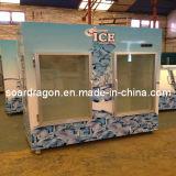 escaninho de armazenamento ensacado capacidade do gelo 1000lbs com sistema frio da parede