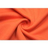 衣類の広東省の短い袖オレンジ通気性のDri適当な循環のジャージー