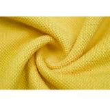 Chemise de polo imprimée par mode jaune de bonne qualité faite sur commande d'hommes