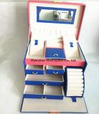 Caja de almacenamiento de joyas de cuero