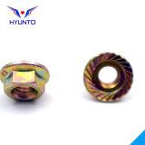 M6/Toothed/Hex Flange Nut mit Color Zinc