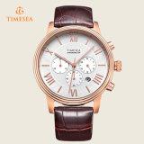 Het nieuwe Horloge van het Roestvrij staal van de Chronograaf van Japan Movt met Functie en 3ATM 72232 van de Dag