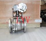 Válvula de esfera de trunião de aço carbono com flange