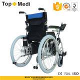 Sedia a rotelle pieghevole di alluminio di energia elettrica di promozione di Topmedi per trasporto