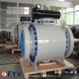 Válvula de esfera fixa pneumática do tamanho grande de alta pressão