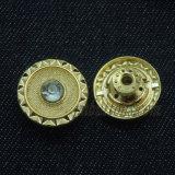 Tecla de cristal do metal do Rhinestone para calças de brim das mulheres